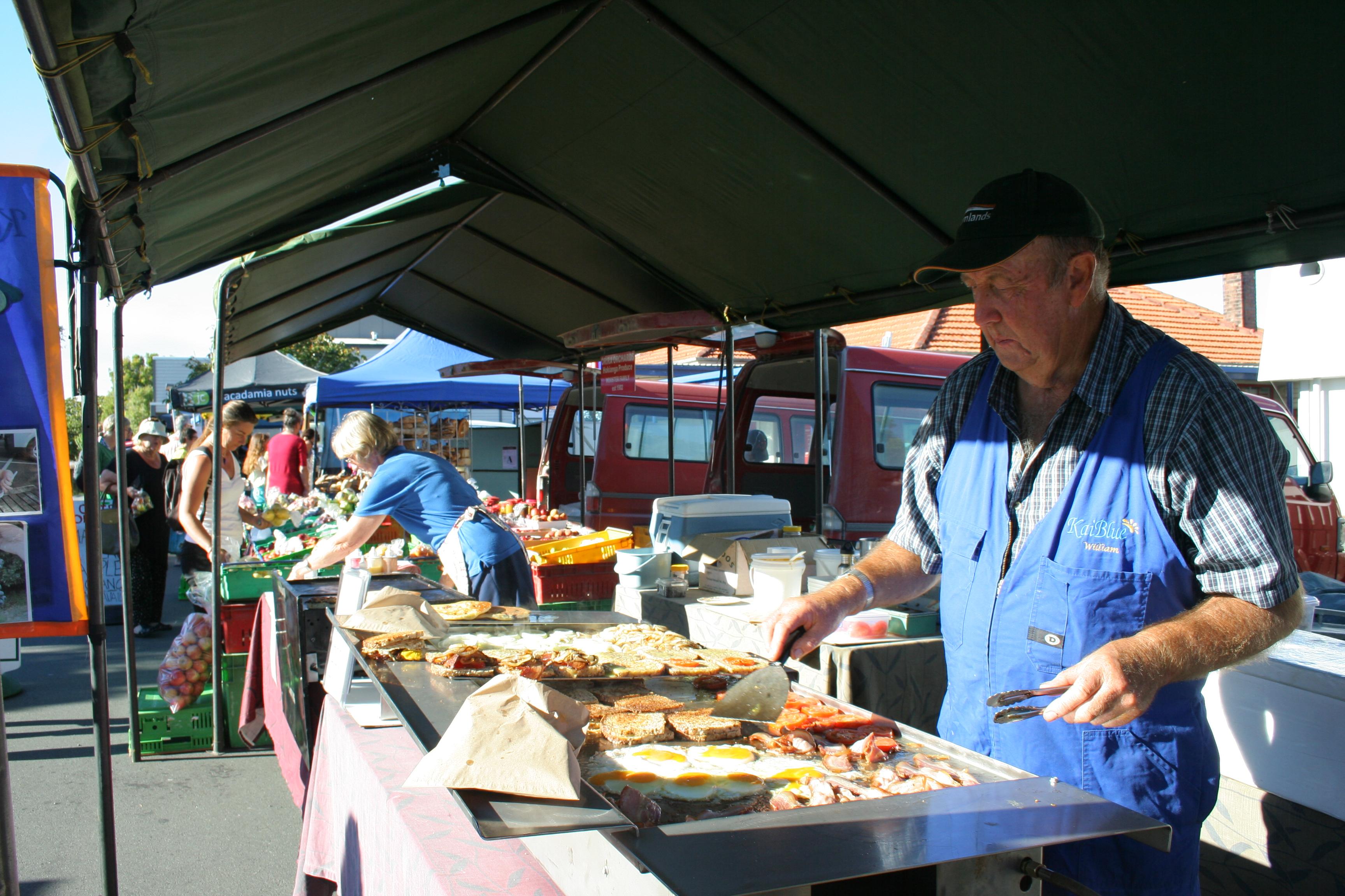 El mercado del agricultor en Kerikei
