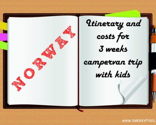 Itinerario y gastos 3 semanas en autocaravana en Noruega con niños